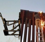 Feds Find Weed-Slinging Catapult Hanging From Mexican Border Wall