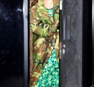 Rihanna Spotted at the Studio with Chris Brown Wearing a Marijuana Dress