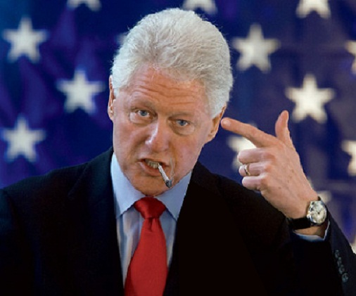 Clinton smoking weed