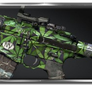 "Light up enemies with Call of Duty's marijuana weed themed ""Blunt Force"" custom camo!"