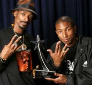 Snoop and Pharrell team up on promo for marijuana